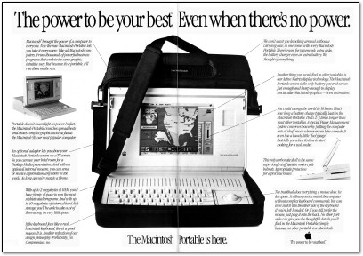 First Macintosh Portable Ad - 1989