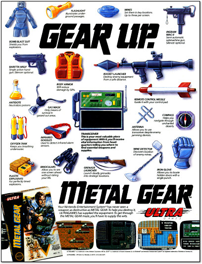 Metal Gear for NES Ad - 1988
