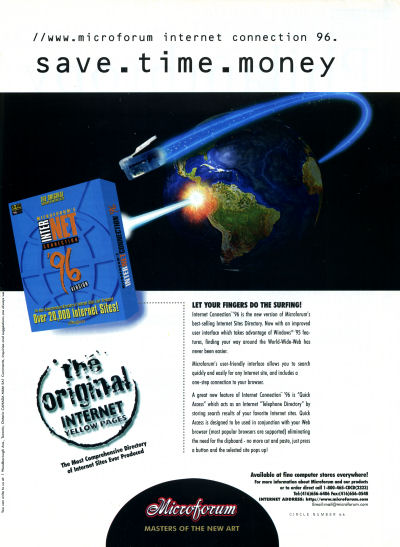 Microforum Internet Connection advertisement - 1996
