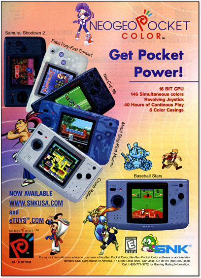 SNK Neo Geo Pocket Color Ad - 1999