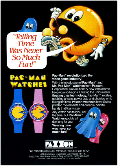 Pac-Man Watch Ad - 1983