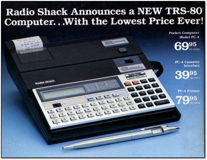 TRS-80 Pocket Computer  PC-4 Ad - 1983