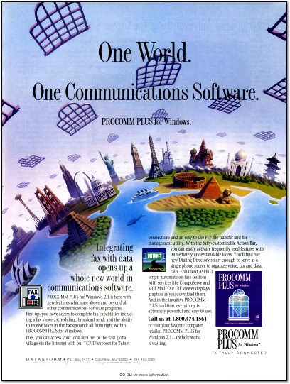 Procomm Plus for Windows Ad - 1995