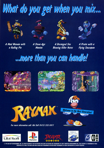 Ubisoft Rayman Advertisement - Original first Rayman Game - 1995