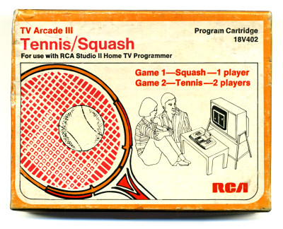 RCA Studio II TV Arcade III Tennis-Squash Box Cover - 1988