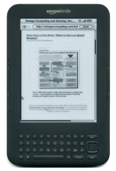 Vintage Computing and Gaming - The First Retro Scan of the Week on an Amazon Kindle - 2006