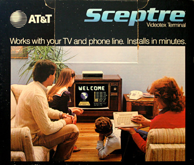 AT&T Sceptre Videotex Terminal TV set-top box online modem - 1983