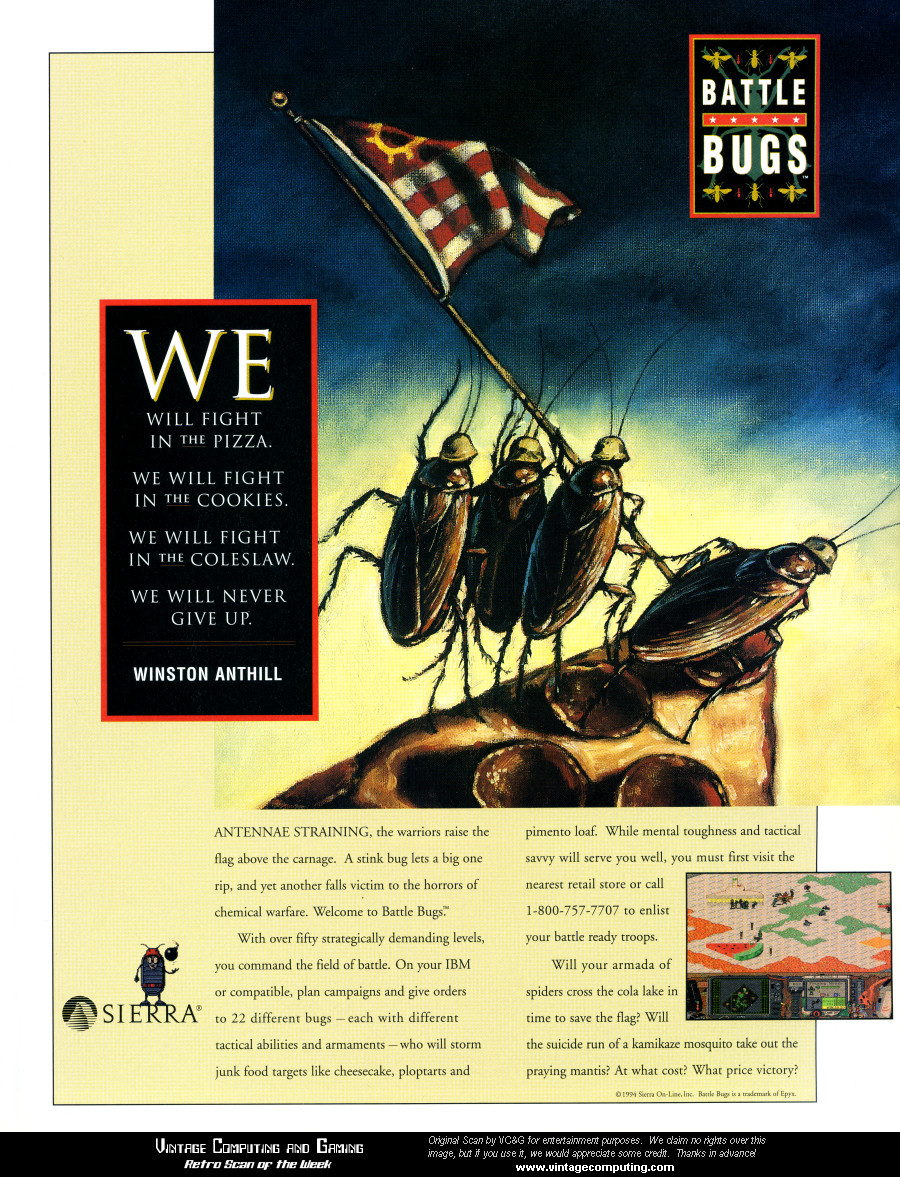 Sierra Battle Bugs advertisement Wired - November 1994