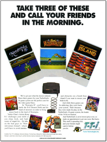 TurboGrafx-16 Take Three Ad - 1992