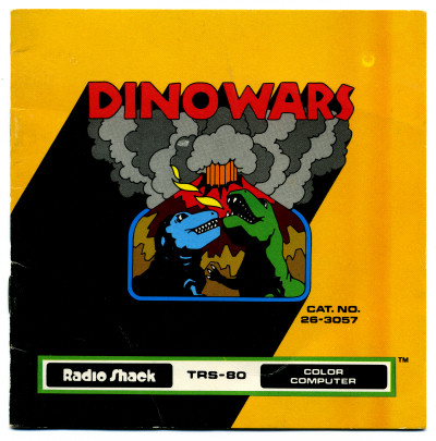 TRS-80 Color Computer Dinowars Manual Cover - 1980