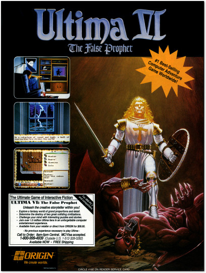 Ultima VI PC Game Advertisement - 1991