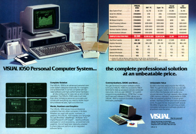 Visual 1050 Personal Computer System Advertisement 1983