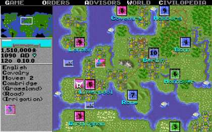 Sid Meier's Civilization I for MS-DOS Screenshot