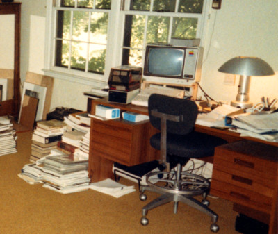 Benj's Dad's Office in July 1985 - Apple IIc and Star Printer