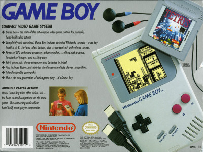 Nintendo Game Boy 1989 North American retail box scan back - 1989